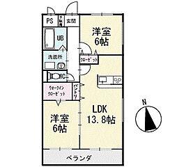 ルナパーク 2階[201号室]の間取り
