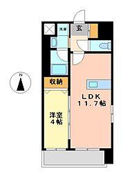 エルミタージュ桜山[3階]の間取り