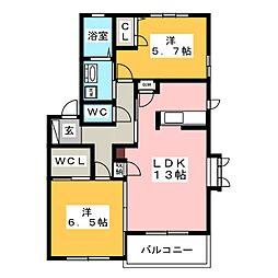 青柳ガーデンハイム[2階]の間取り