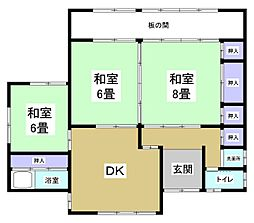[一戸建] 静岡県湖西市新居町中之郷 の賃貸【/】の間取り