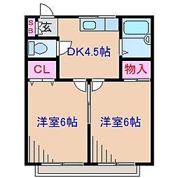 第2オリオンハウス[1階]の間取り
