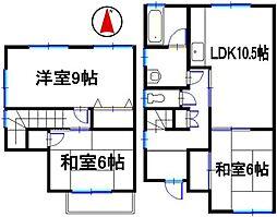 [テラスハウス] 兵庫県姫路市御立東2丁目 の賃貸【/】の間取り
