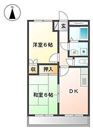 JR姫新線 余部駅 バス25分 刃出下車 4.3kmの賃貸マンション 2階2DKの間取り