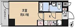 アドバンス神戸グルーブII 8階1Kの間取り
