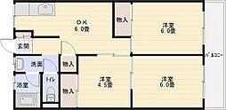 小松マンション[1階]の間取り