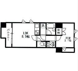 神奈川県横浜市中区翁町1丁目の賃貸マンションの間取り