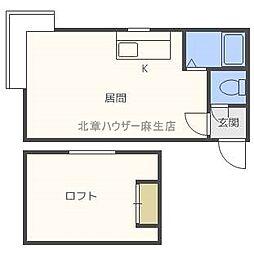 北海道札幌市北区北三十八条西6丁目の賃貸アパートの間取り