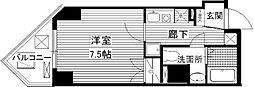ORYZA肥後橋 11階1Kの間取り
