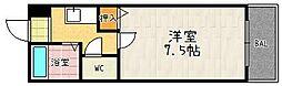 アミスタ堀川[502号室]の間取り