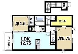 コージーコートA[2階]の間取り