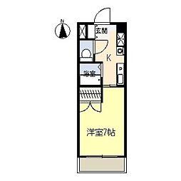ブールヴァールYASHIRODAI[2階]の間取り