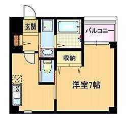 Osaka Metro谷町線 太子橋今市駅 徒歩5分の賃貸マンション 1階1DKの間取り