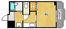 大阪府茨木市東奈良1丁目の賃貸マンションの間取り