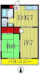 ビアンカ東金町II[2階]の間取り