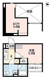 ボヌールクマタ[2階]の間取り