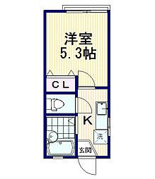 本多ハウス[2階]の間取り