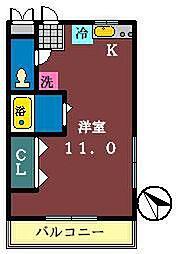 オネスティ大久保 壱・弐・参番館[2-202号室]の間取り