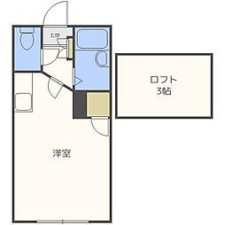 ボナール・ドエル[2階]の間取り
