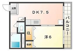 サンコート太秦ヒル[2階]の間取り