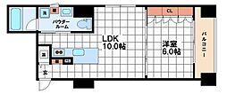 クレグラン南船場[9階]の間取り