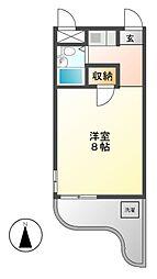 SIMON茶屋が坂(旧シャトー赤坂)[2階]の間取り