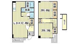 [テラスハウス] 兵庫県神崎郡福崎町南田原 の賃貸【/】の間取り