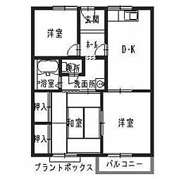 グリーンハイツ遠藤 A棟[2階]の間取り