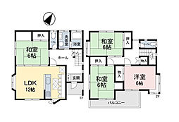 JR高崎線 北本駅 徒歩15分 4LDKの間取り