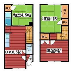 [テラスハウス] 北海道札幌市豊平区月寒西一条3丁目 の賃貸【/】の間取り