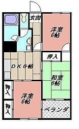 フォーレスト折尾[711号室]の間取り