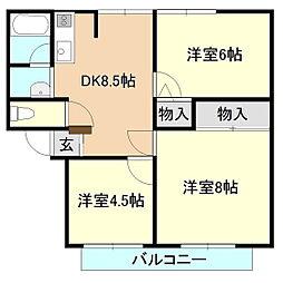 サンライフ二の宮[1階]の間取り