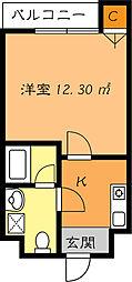 かねまつ庄内マンション[4階]の間取り