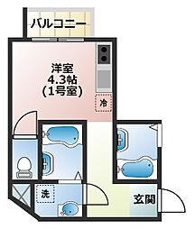 (仮称)船橋市宮本3丁目共同住宅[401号室]の間取り