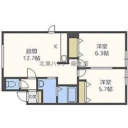KK−ONE[2階]の間取り