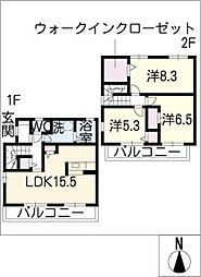 [タウンハウス] 愛知県豊橋市南島町1丁目 の賃貸【/】の間取り
