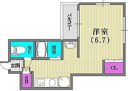 ウィンテージ神戸元町[2階]の間取り