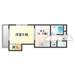 グレース新川崎II[1階]の間取り