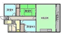 コンソラートTY[3階]の間取り