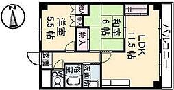 広島県広島市東区牛田本町2丁目の賃貸マンションの間取り