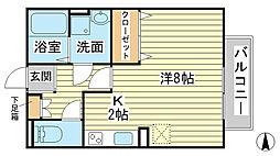 エマーブル福田[202号室]の間取り