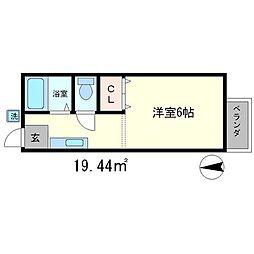 上桂サンシティA棟[2階]の間取り
