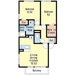 エクセルパーク A棟[1階]の間取り