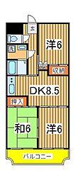 渋谷ビル[802号室]の間取り