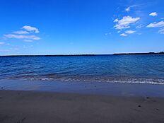 阿字ヶ浦のビーチ