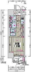 プレサンス新大阪ザ・デイズ 8階1Kの間取り