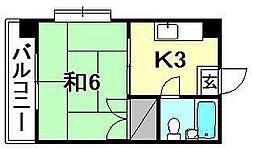 ハイツ清水[203 号室号室]の間取り