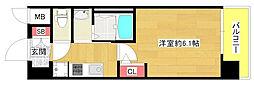 フォレステージュ北堀江[10階]の間取り
