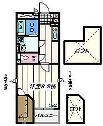 埼玉県草加市青柳3丁目の賃貸マンションの間取り