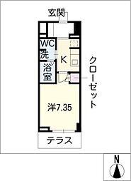 アーデン春岡[1階]の間取り