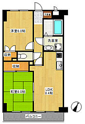 YMDIIIマンション[205号室]の間取り